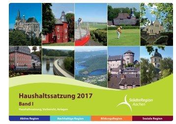 Band I - Haushaltssatzung, Vorbericht, Anlagen_2017 (Entwurf)