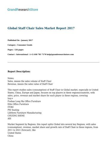Global Staff Chair Sales Market Report 2017