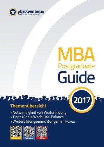 MBA KarriereGuide 2017
