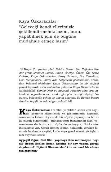 Kaya Özkaracalar - Mithat Alam Film Merkezi