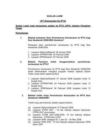 SOALAN LAZIM BPKP - Jabatan Pengajian Tinggi - Kementerian ...