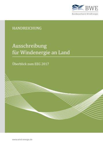 BWE Handreichung (aktualisiert): Praxistips für Ausschreibung für Windenergie an Land