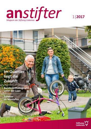 Anstifter 1, 2017 der Stiftung Liebenau