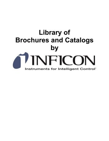 Library of Brochures and Catalogs - INFICON