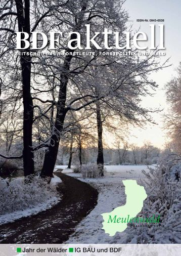 Jahr der Wälder IG BAU und BDF