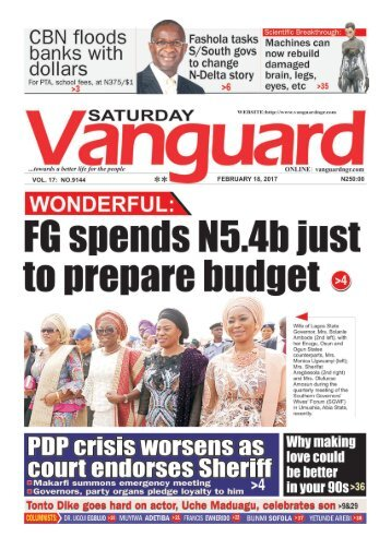 18022017 - WONDERFUL: FG spends N5.4b just to prepare budget
