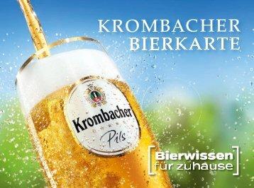 Krombacher Bierkarte
