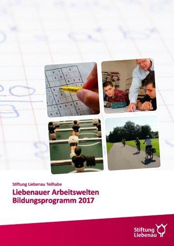 Liebenauer Arbeitswelten - Bildungsprogramm 2017