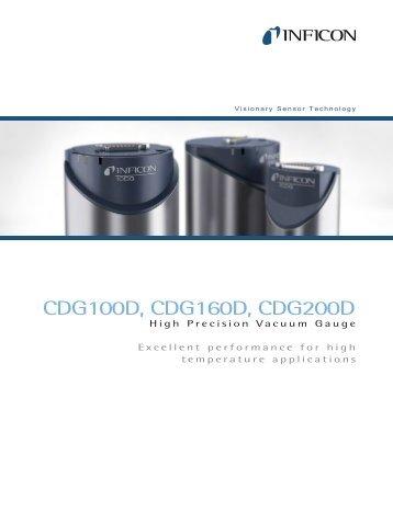 Vacuum Gauges - CDG100D - CDG160D - CDG200D - INFICON