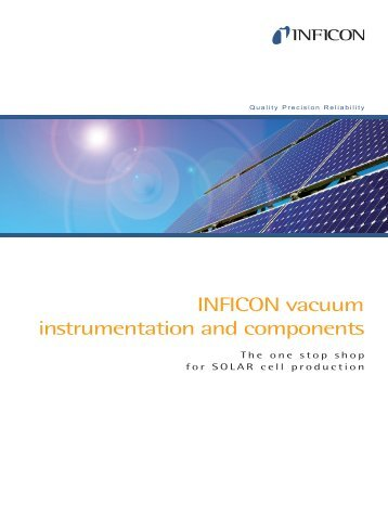 Vacuum Instrumentation for Solar - INFICON