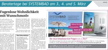 Beratertage bei SYSTEMBAD