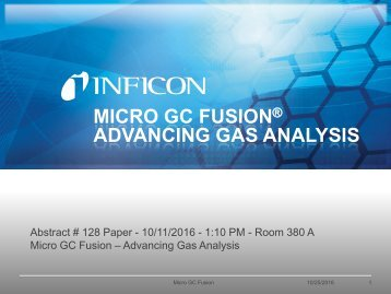 Advancing Gas Analysis - Micro GC Fusion - INFICON