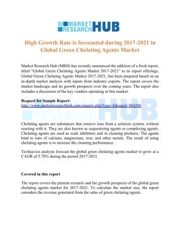 Global Green Chelating Agents Market Report 2021