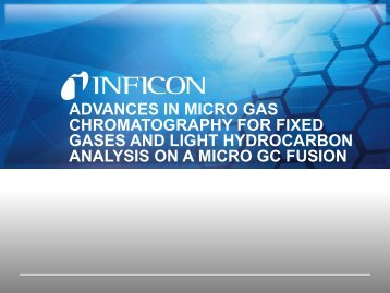 Fixed Gases and Light Hydrocarbon Analysis - Micro GC Fusion - INFICON