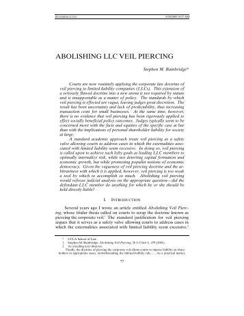 doctrine of piercing the veil of Procedural device to protect them is likewise provided for in the constitution the  reason is obvious by including in the constitution a right to an effective.
