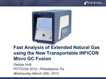 Pittcon 2013 - Transportable Micro GC Fusion - INFICON