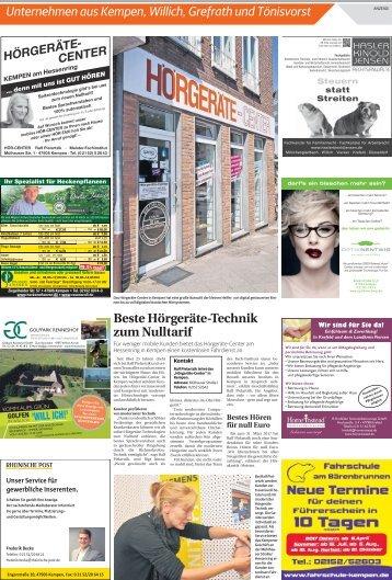 Unternehmen aus Kempen, Willich, Grefrath und Tönisvorst