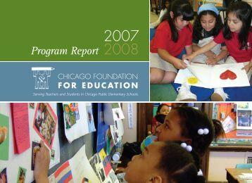 Program Report - Chicago Foundation for Education Lesson Plans