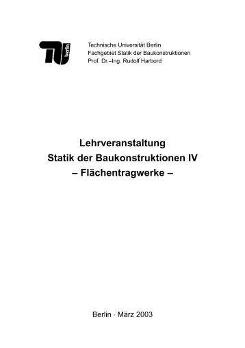 2 klassische tachymeterau for Statik formelsammlung