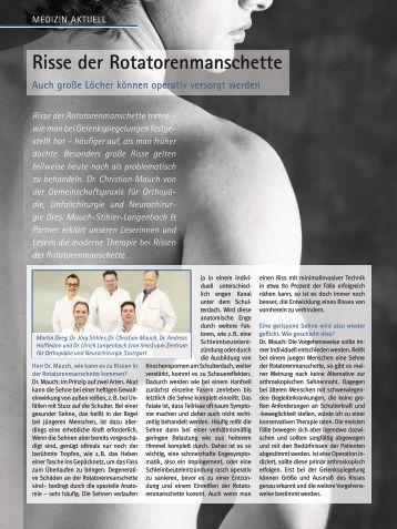 Risse der Rotatorenmanschette - Zentrum für Orthopädie und ...