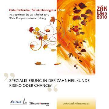 2010 ZÄK Hauptprogramm.pdf - Vienna Medical Academy