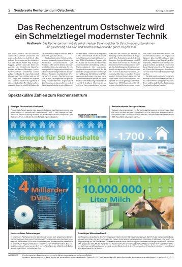 Rechenzentrum Ostschweiz Sonderseite 2 - Medienpartnerschaft St. Galler Tagblatt