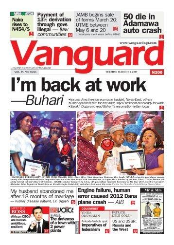 14032017  I'm back at work —Buhari