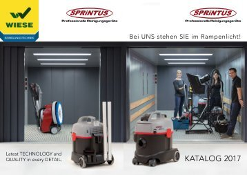 Komplettkatalog Sprintus professionelle Reinigungsgeräte