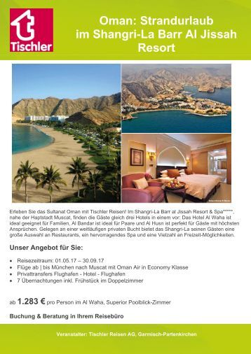 Oman: Strandurlaub im Shangri-La Barr Al Jissah Resort