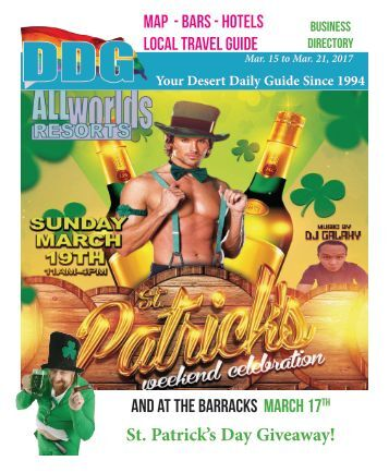 This week in gay Palm Springs California St. Patrick's Day Weekend events