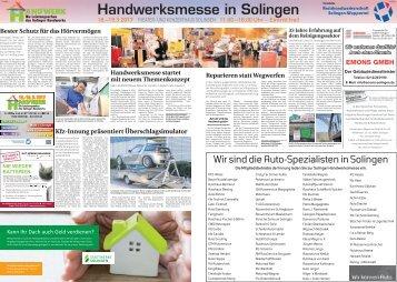 Handwerksmesse in Solingen