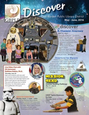 Discover Newsletter May June 2016
