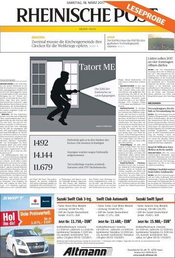 Rheinische Post -Leseprobe-
