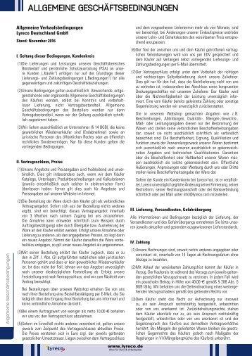 Lyreco Allgemeine Geschäftsbedingungen
