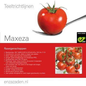 Teeltinformatie Maxeza 2016