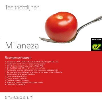 Teeltinformatie Milaneza 2016