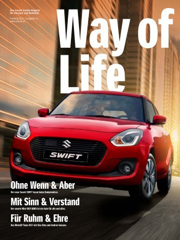 Suzuki Way of Life Magazin Frühling 2017