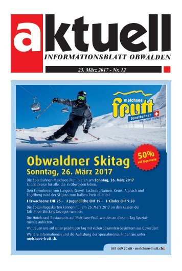 Aktuell Obwalden 12-2017