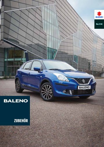 Suzuki BALENO Zubehörprospekt