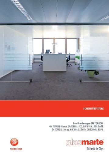 GM TOPROLL, Schiebtürsysteme - Detailzeichnungen