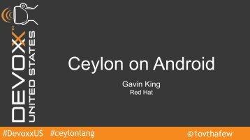 Ceylon on Android