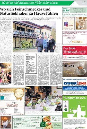 40 Jahre Waldrestaurant Höfer in Sonsbeck