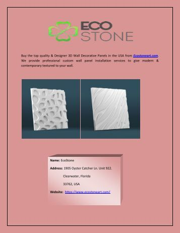 Wall Decor 3D Wall Panels in USA