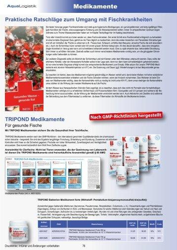 TRIPOND Medikamente - für gesunde Fische