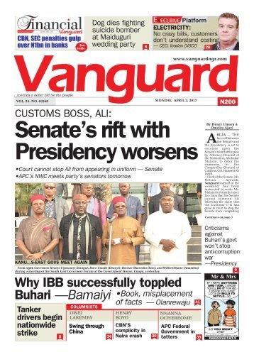 03042017 - Senate's rift with Presidency worsens