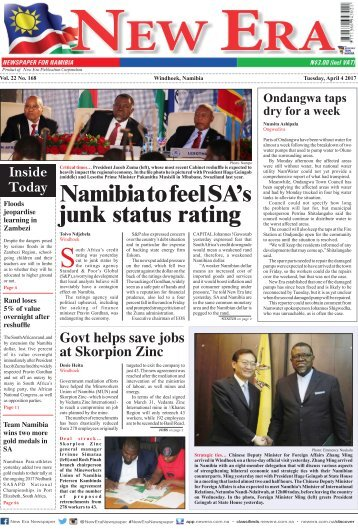 New Era Newspaper Vol22 No168