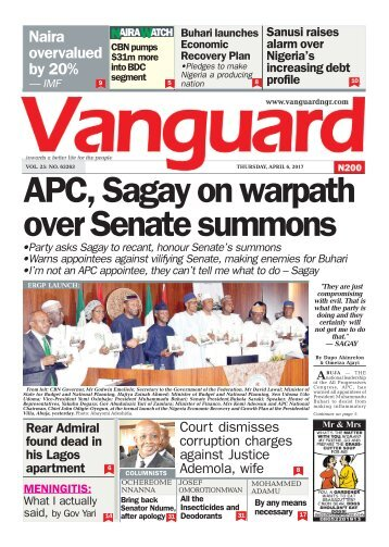 06042017 - APC, Sagay on warpath over Senate summons