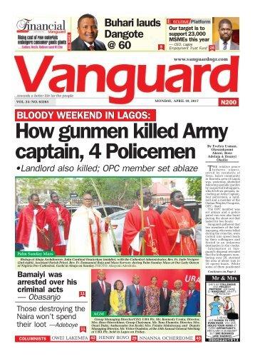 10042017 - BLOODY WEEKEND IN LAGOS: How gunmen killed Army captain, 4 Policemen