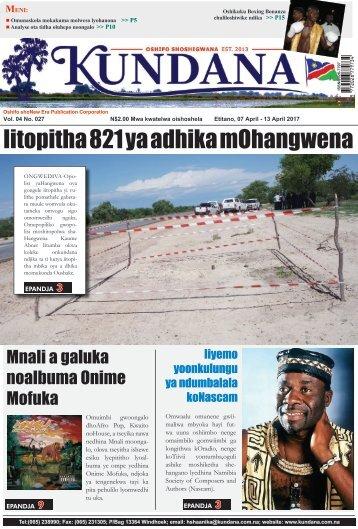 Kundana Newspape Vol04 No027