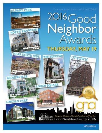 2016 Good Neighbor Awards Program Book